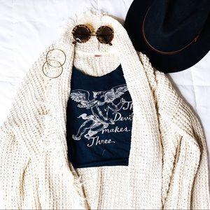 Free People Boho Ivory Sweater